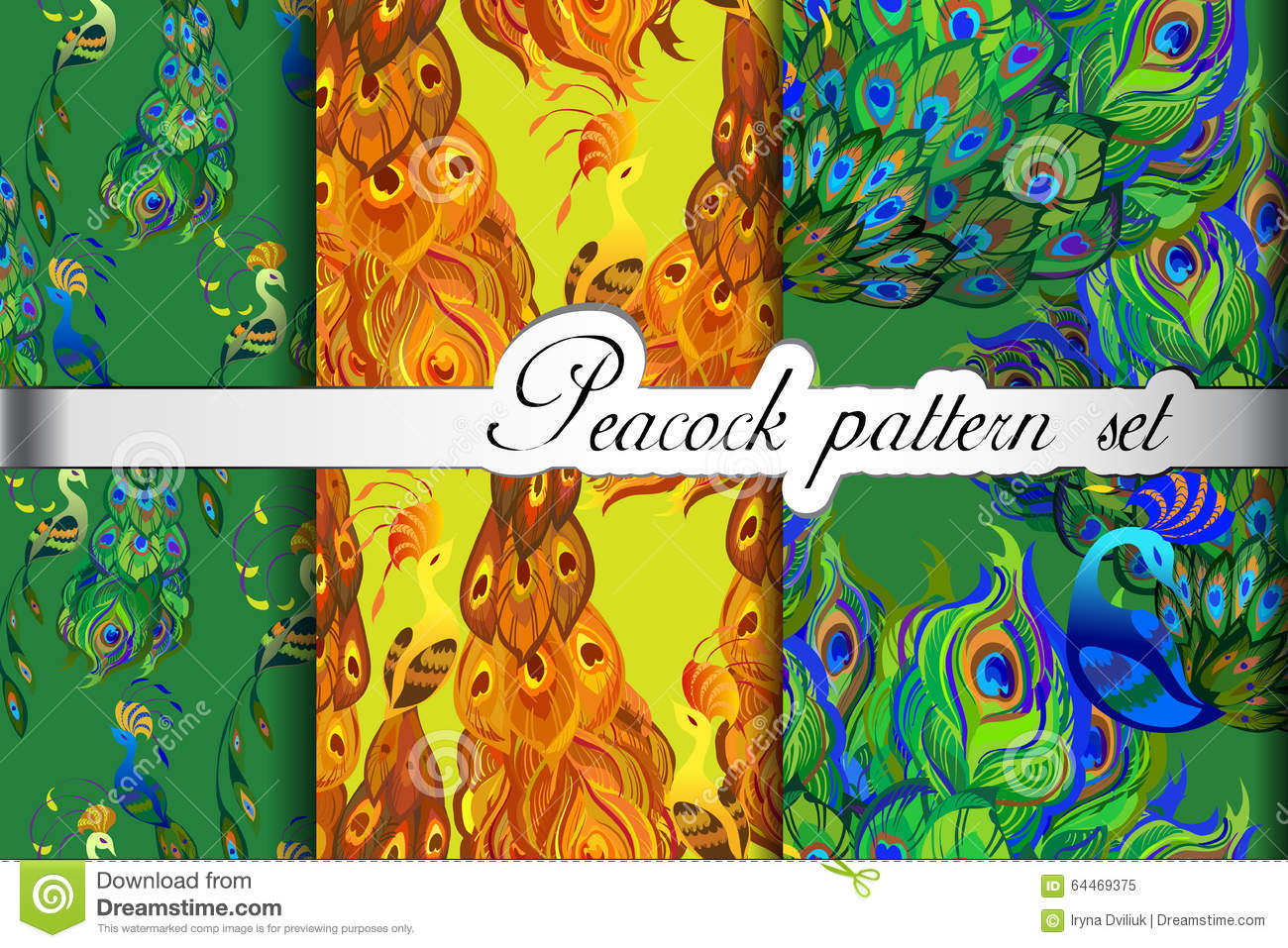 vector abstract peacock seamless - photo #15