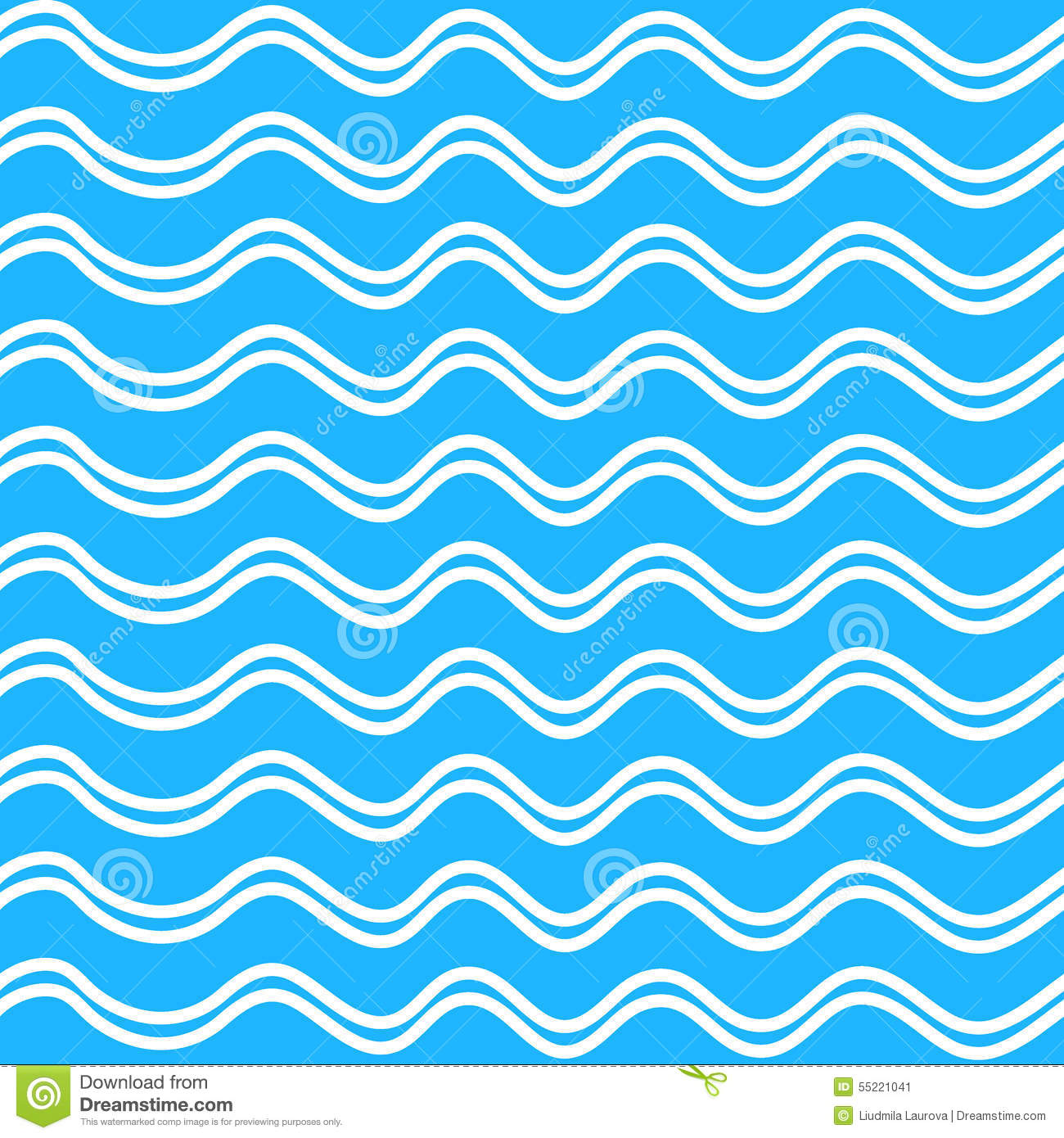 abstract seamless wave pattern on a blue background stock
