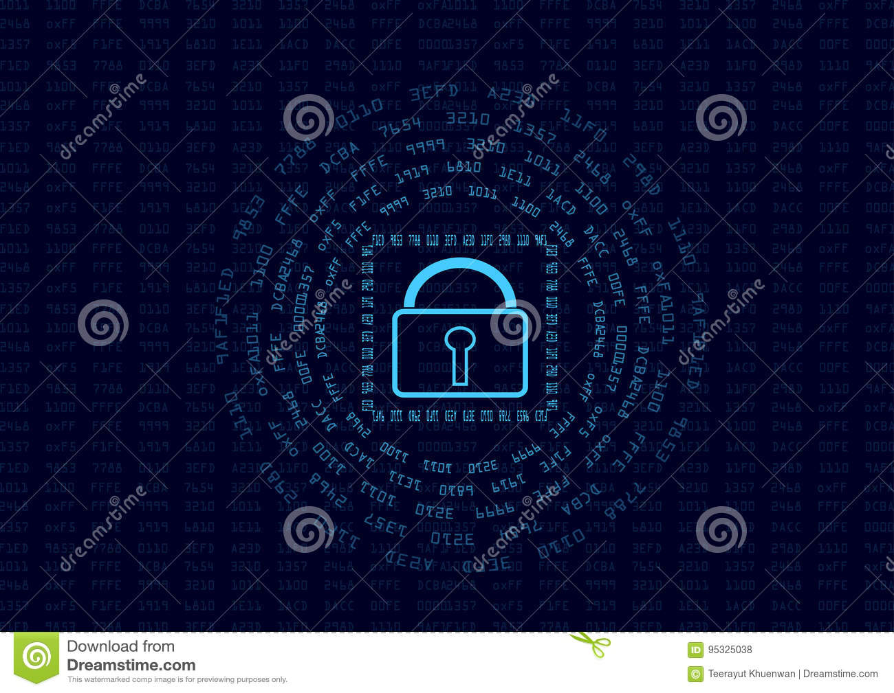 Encrypt Stock Illustrations 1629 Circuit Board And Binary Code Vector Clipart Transmission Of Vectors Dreamstime