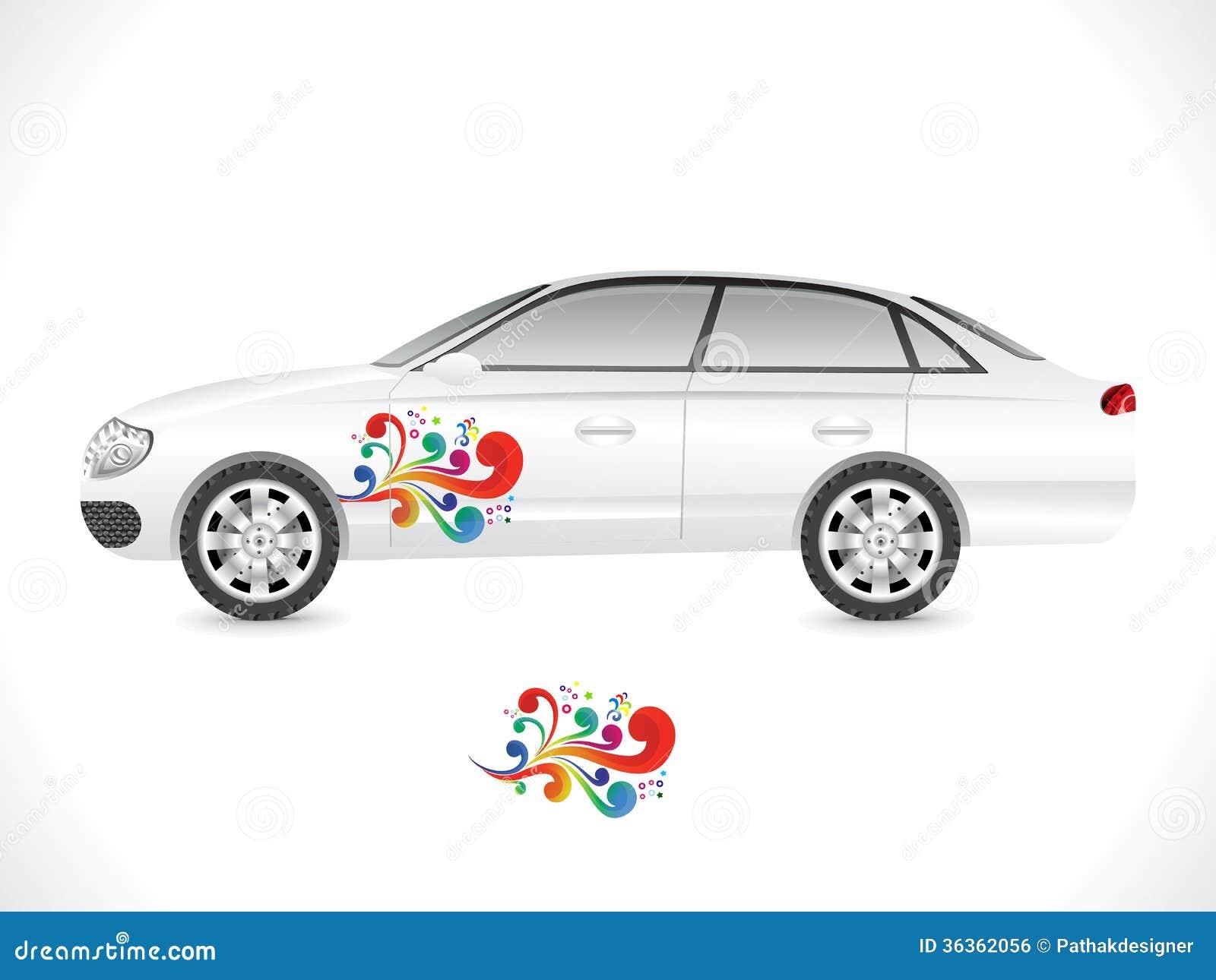 Car sticker design download - Car Illustration Sedan Sticker