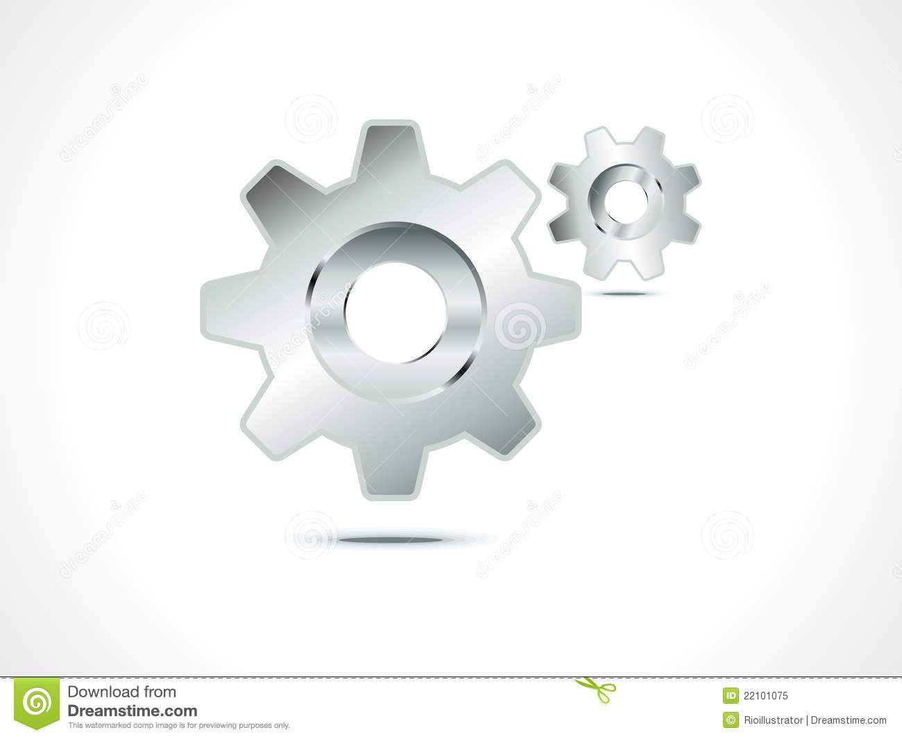 White Gear Icon Abstract setting icon Royalty