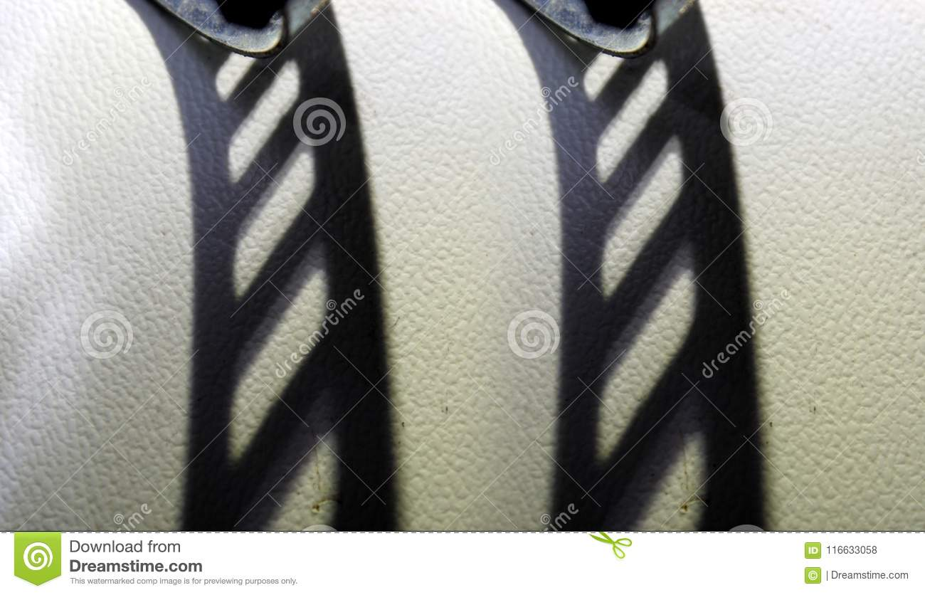 Abstract Shadow And Shape On White Background Stock Photo