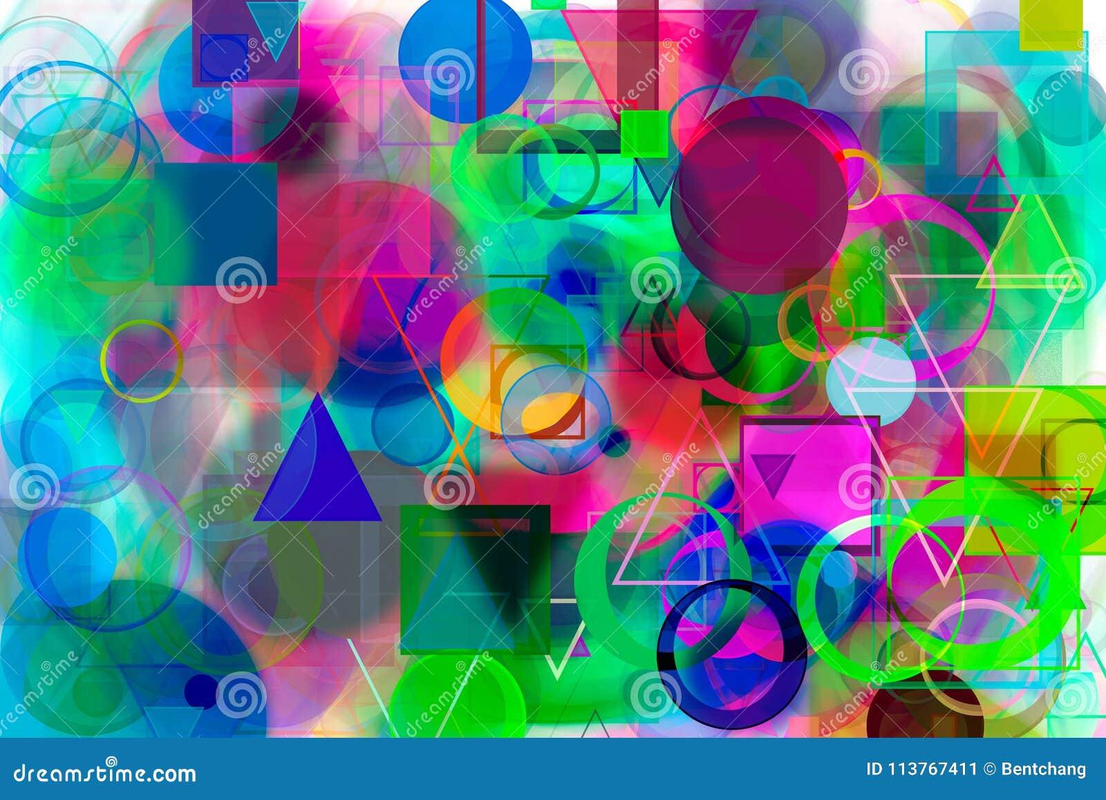 Abstract Shape Generative Design Art Background Pattern