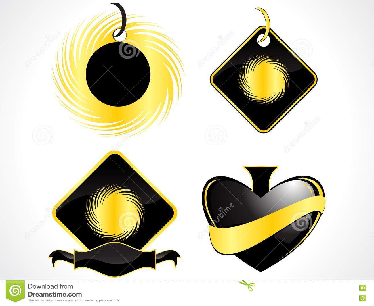 Abstract Shapes In Black Color Stock Photos - Image: 14678643