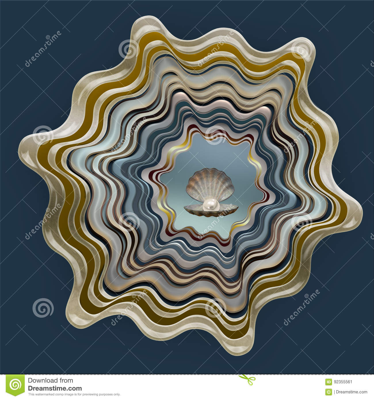 Abstract shell patroon