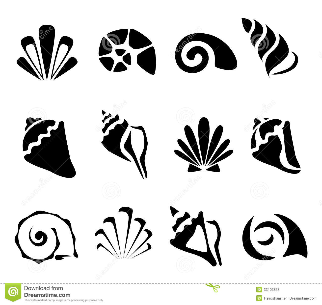 Abstract shell symbol set stock vector. Illustration of beauty ...