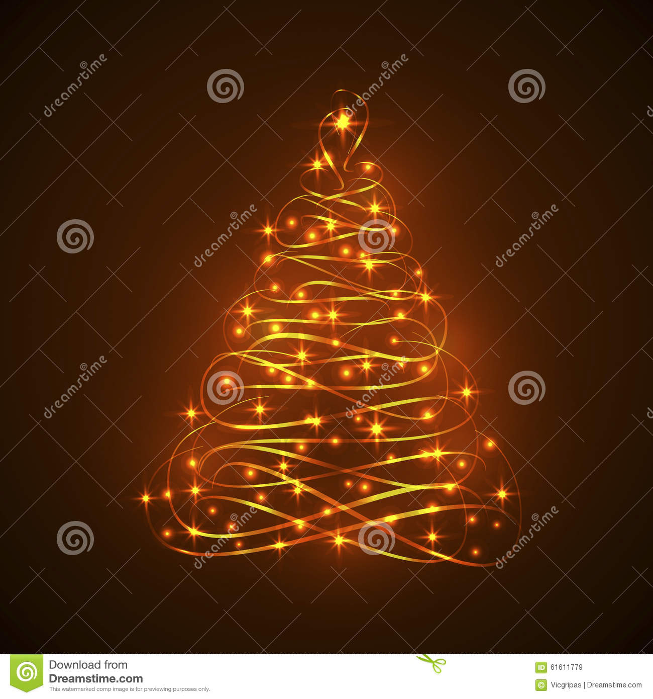 Abstract Shining Electric Light Christmas Tree Stock