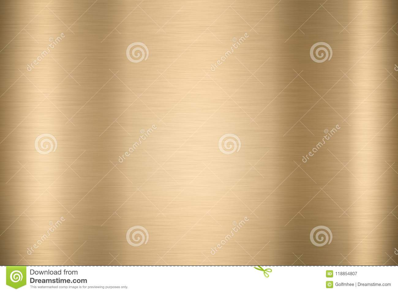 Abstract Shiny smooth foil metal Gold color background Bright vi