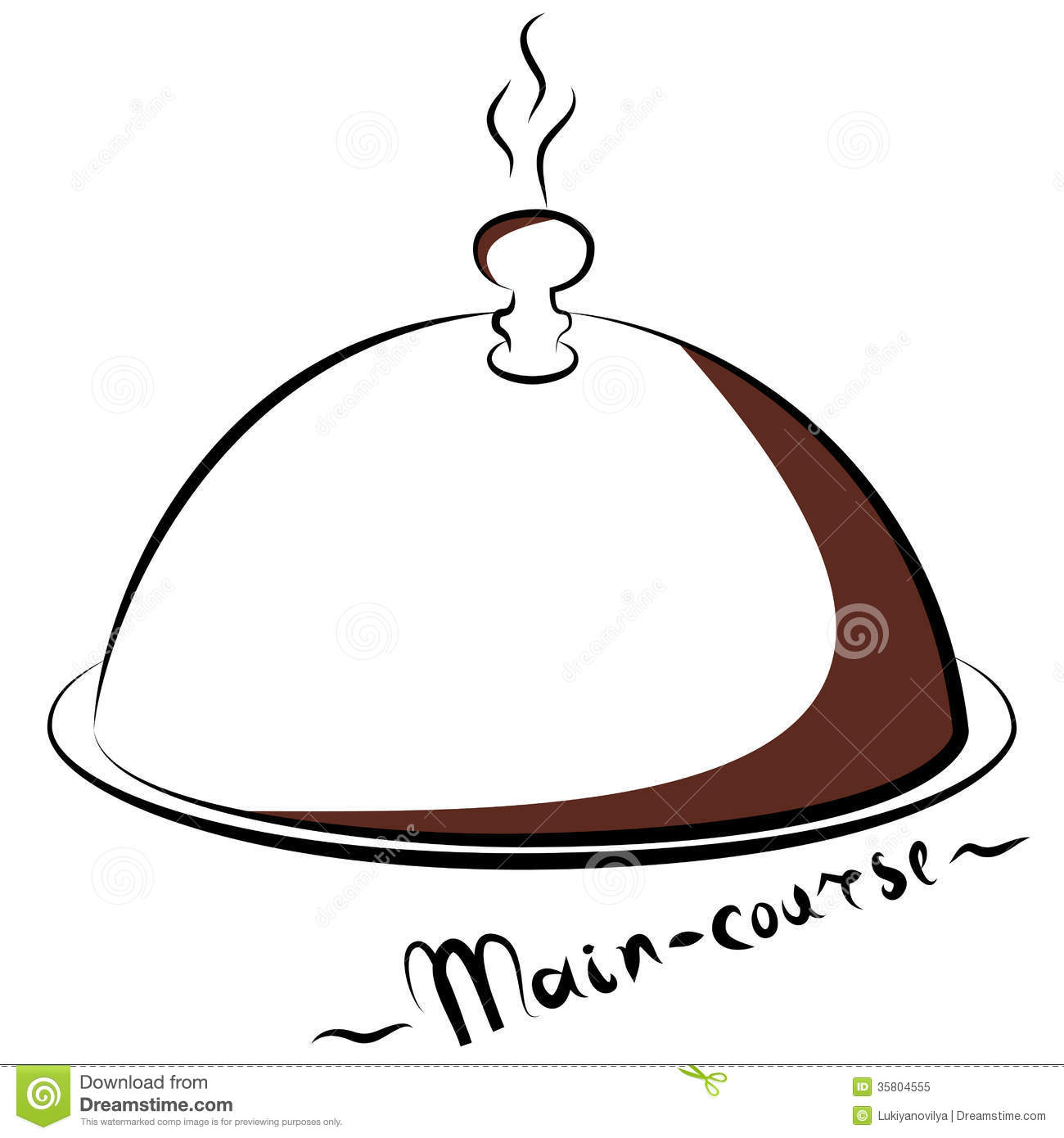 Abstract Silhouette Of Main-Course. Royalty Free Stock Photo ...