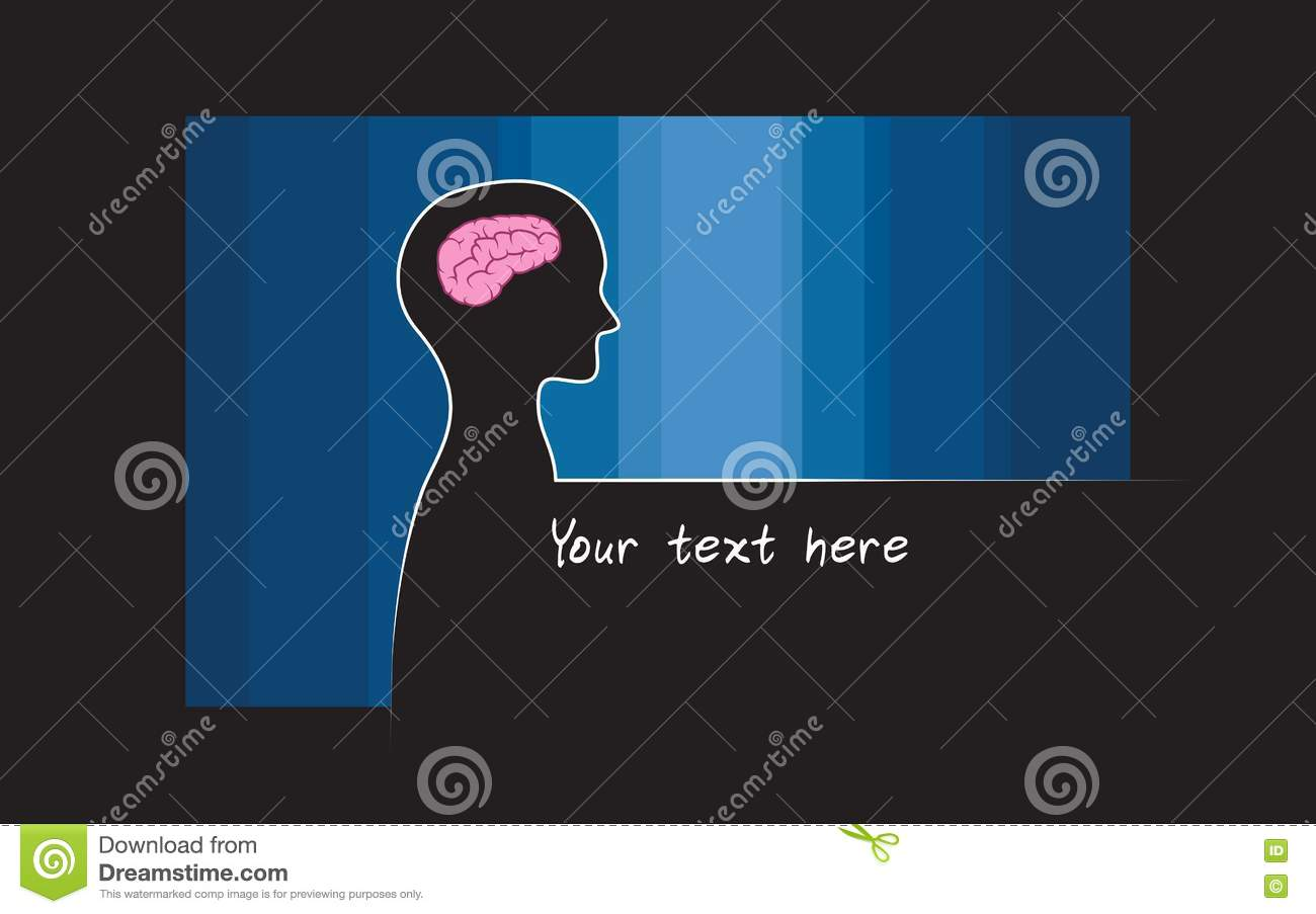 Abstract sillhouette of person with blue colour background abstract sillhouette of person with blue colour background intelligence brain symbol biocorpaavc Images