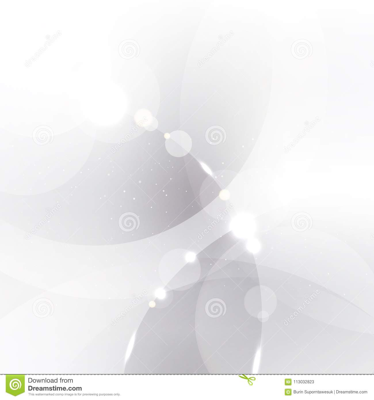 Abstract silver background with white and gray circles overlay a