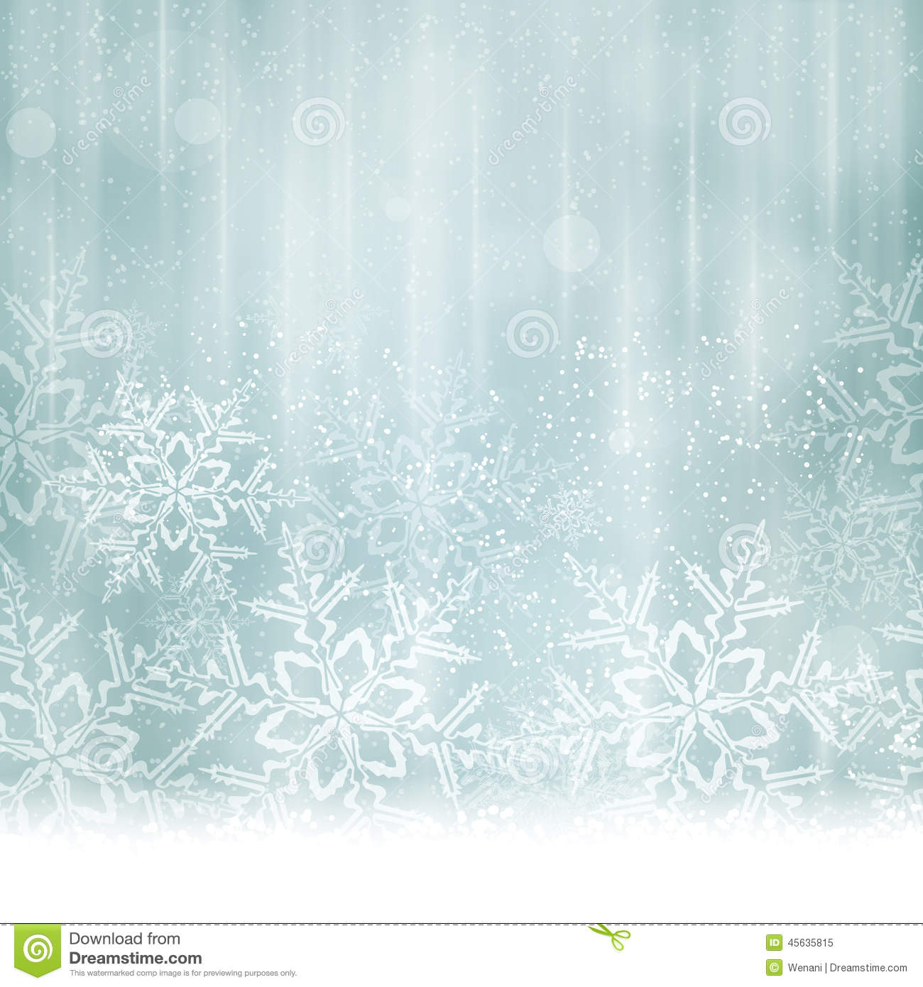 ... snow flakes give it a dreamy and festive feel. Space for your text