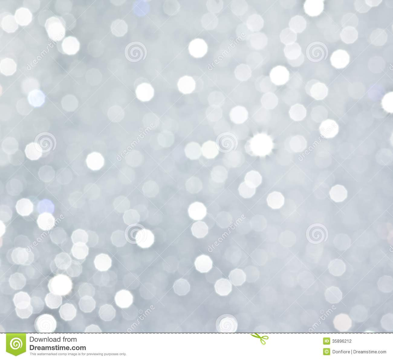 abstract silver circular bokeh background stock
