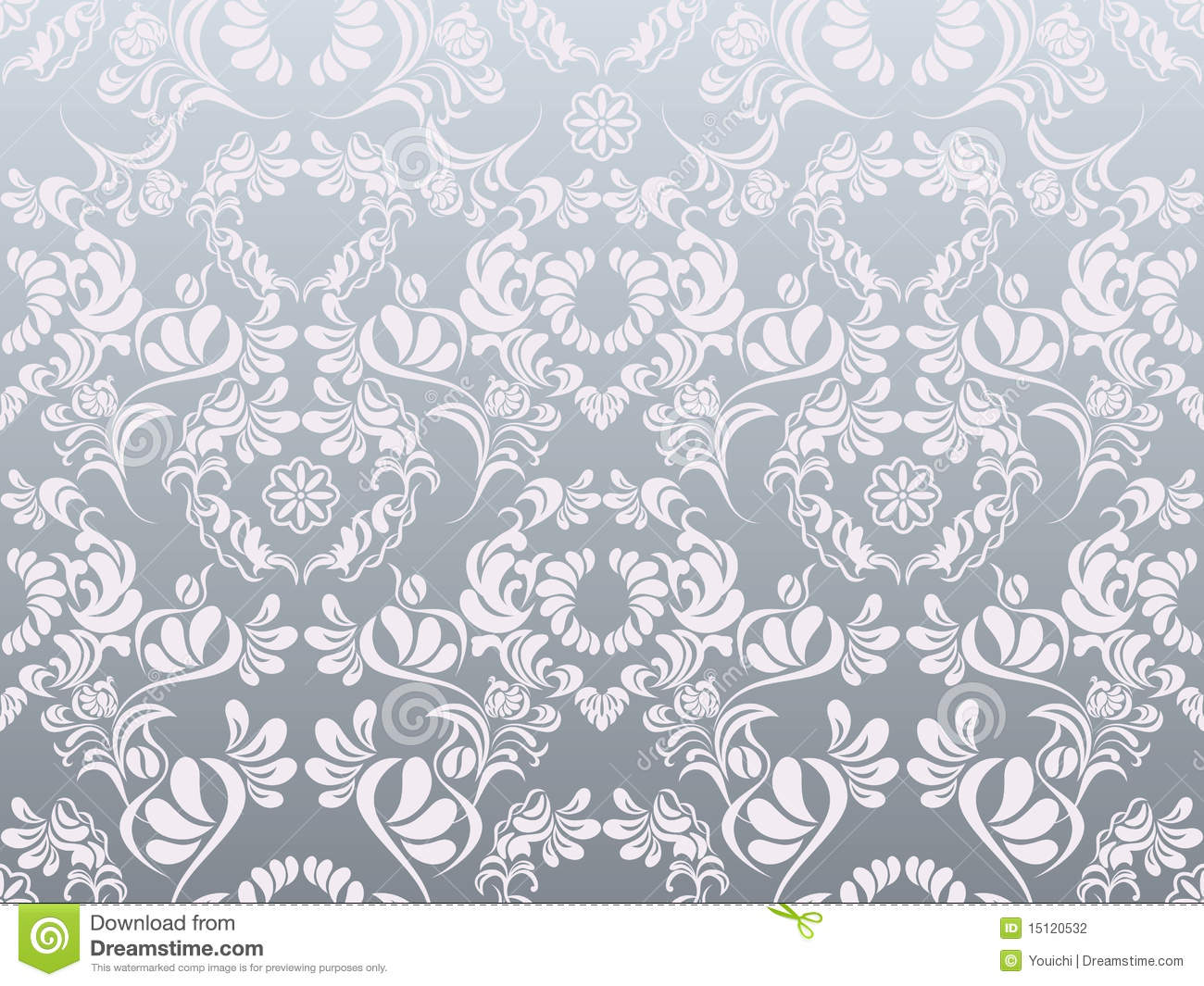 Abstract silver decoration pattern stock vector for Abstract decoration