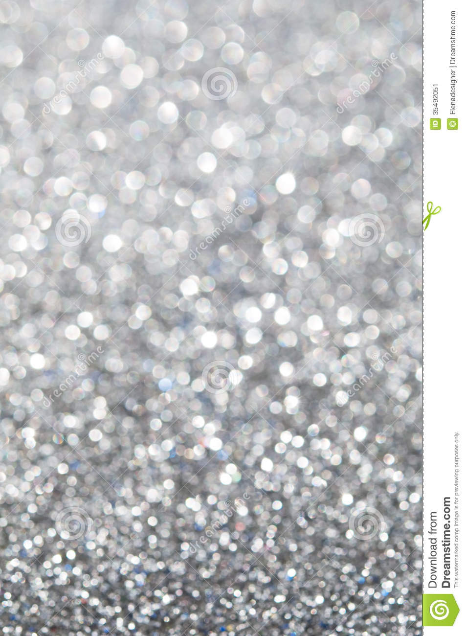 Abstract Silver Glitter Holiday Background