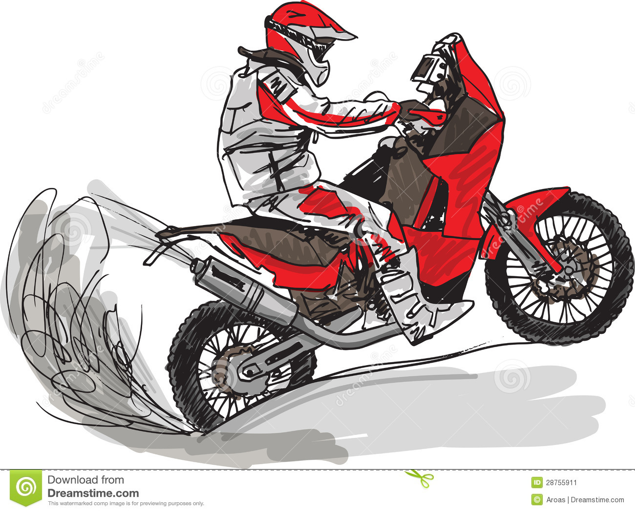 Abstract Sketch Of Biker. Vector Illustration Stock Image - Image ...