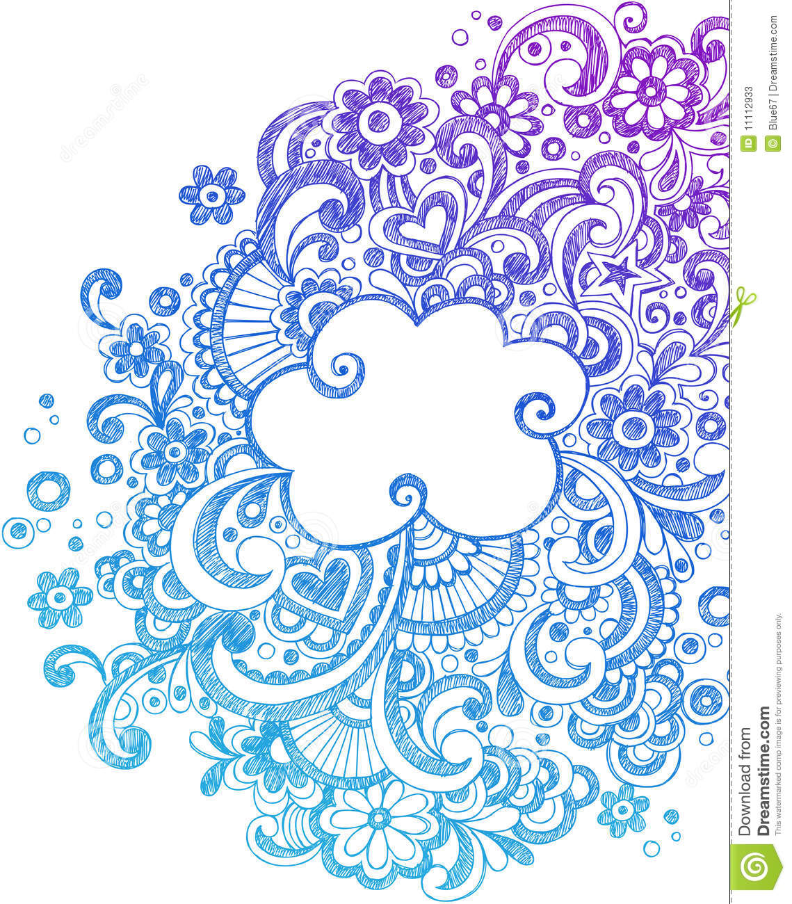 Abstract Sketchy Notebook Doodles Stock Vector Image