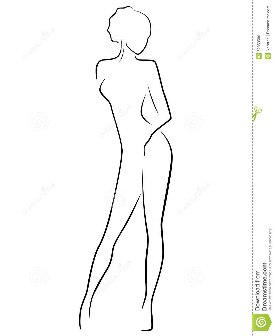Abstract Slim Female Body Illustration 52853586 Megapixl