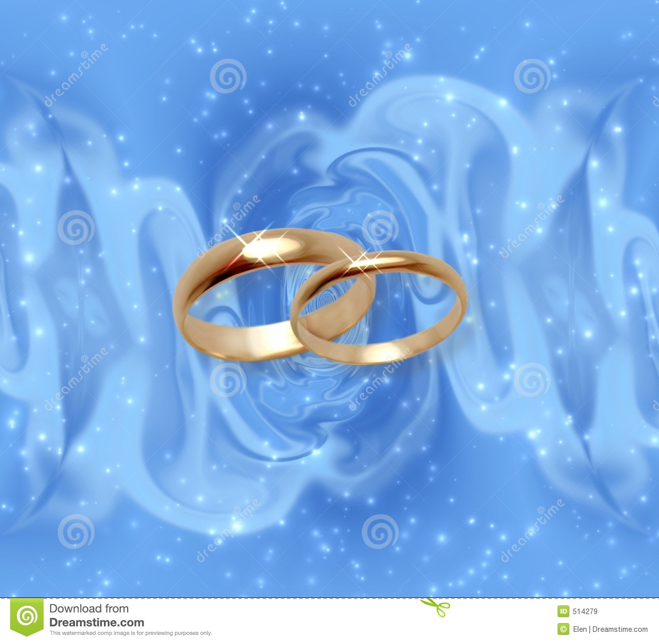 Abstract Snow Background With Wedding Rings Stock Illustration