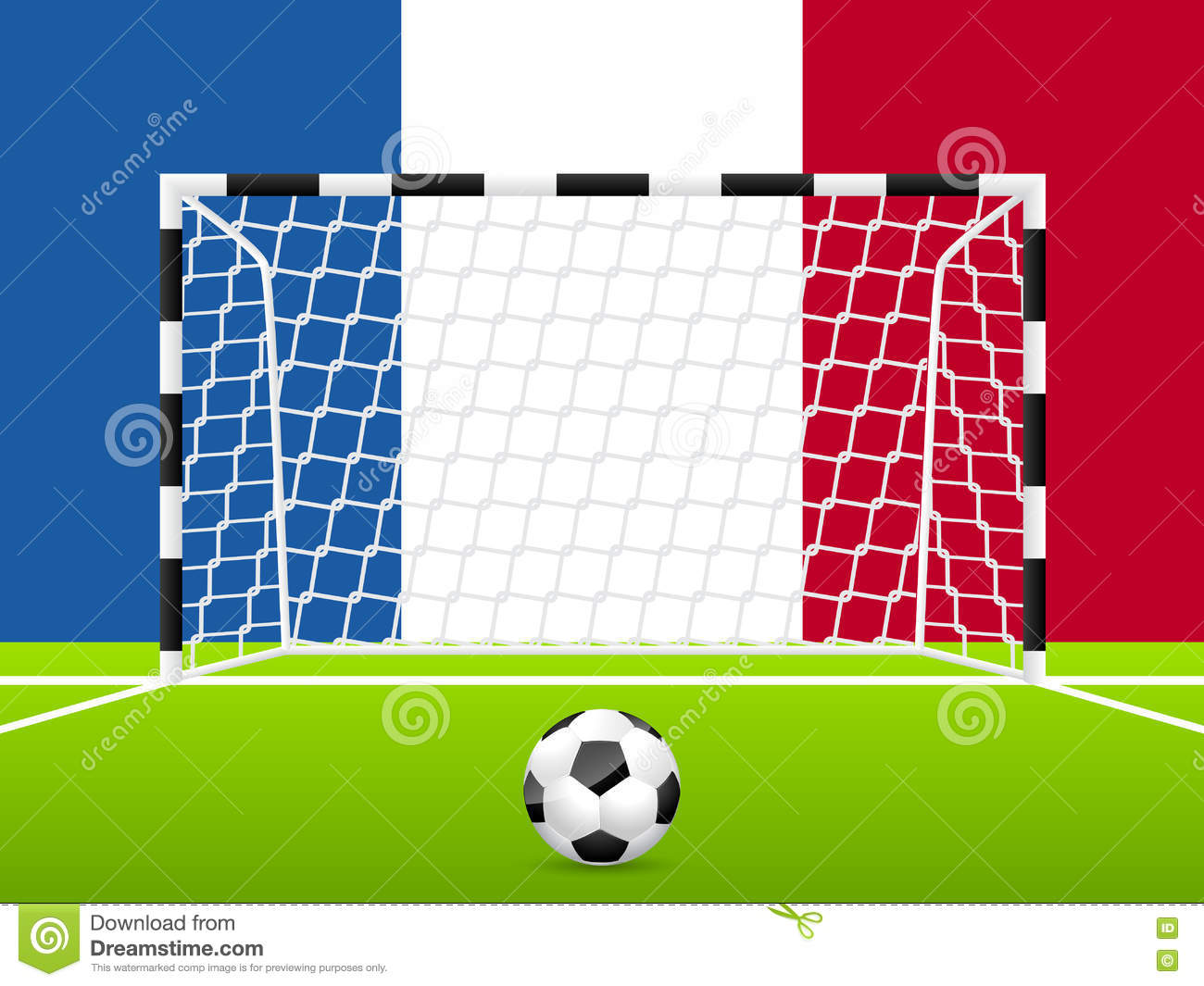 Abstract Soccer Background With French Flag Stock Illustration ...