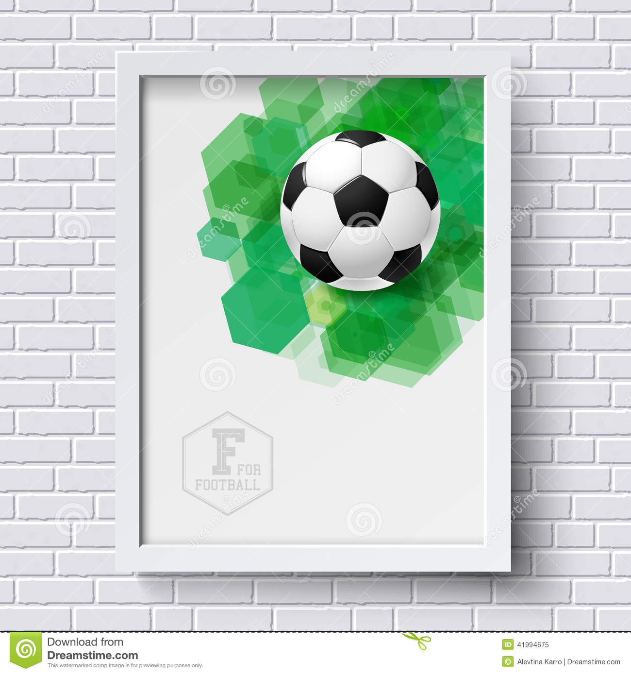 Soccer frame border stock illustrations 531 soccer frame border abstract soccer poster image frame on white brick wall with foo tball poster jeuxipadfo Images