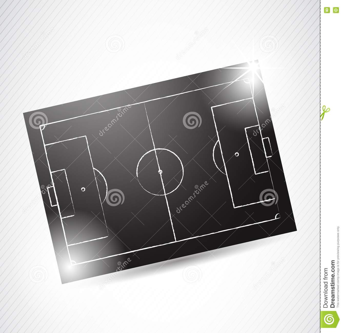 abstract soccer tactics board royalty free stock images