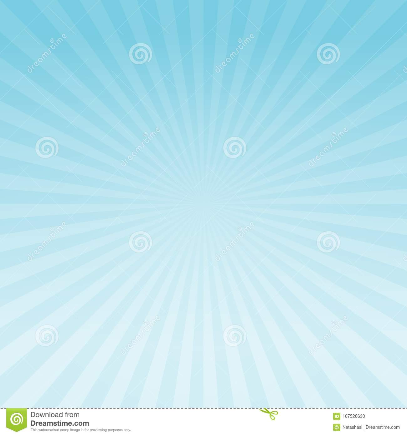 Abstract light Blue gradient rays background. Vector EPS 10 cmyk