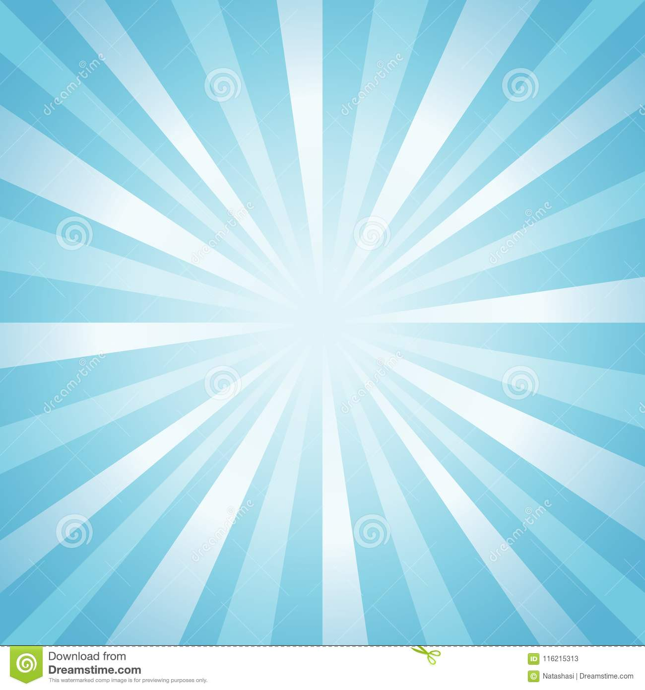 Abstract soft light Blue rays background. Vector