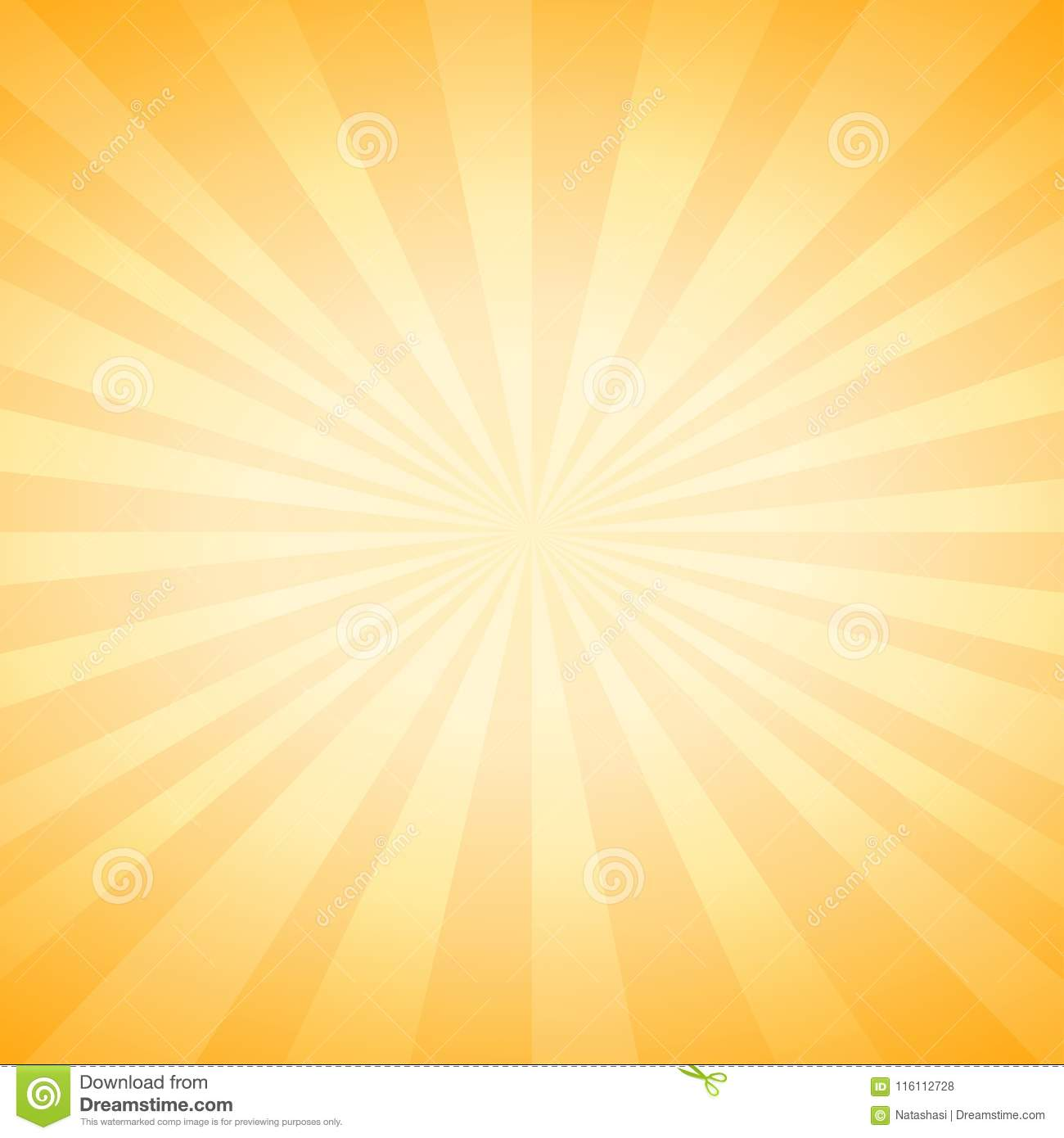 Abstract soft Yellow rays background. Vector