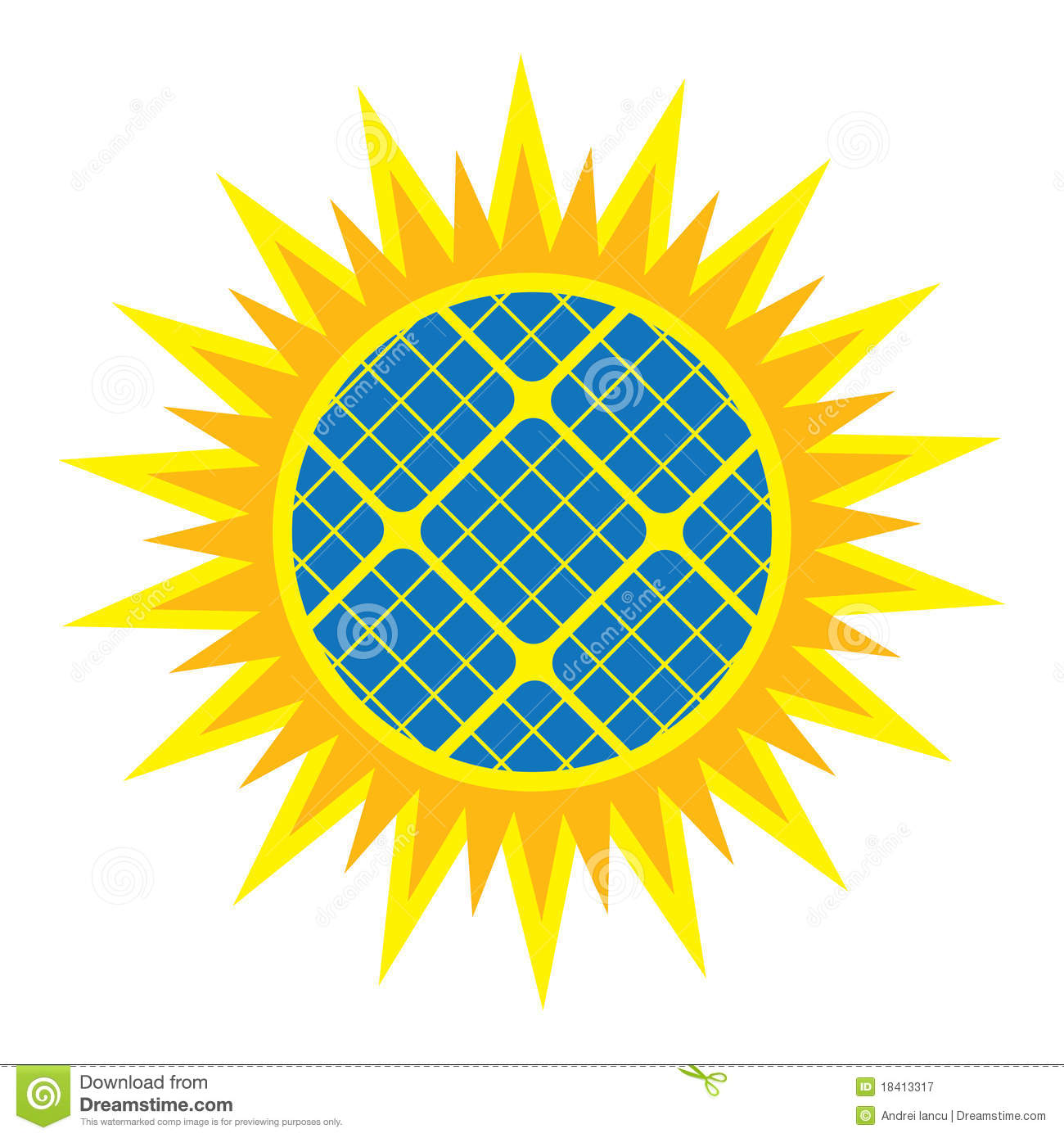 Abstract Solar Panel Icon Royalty Free Stock Photography - Image ...