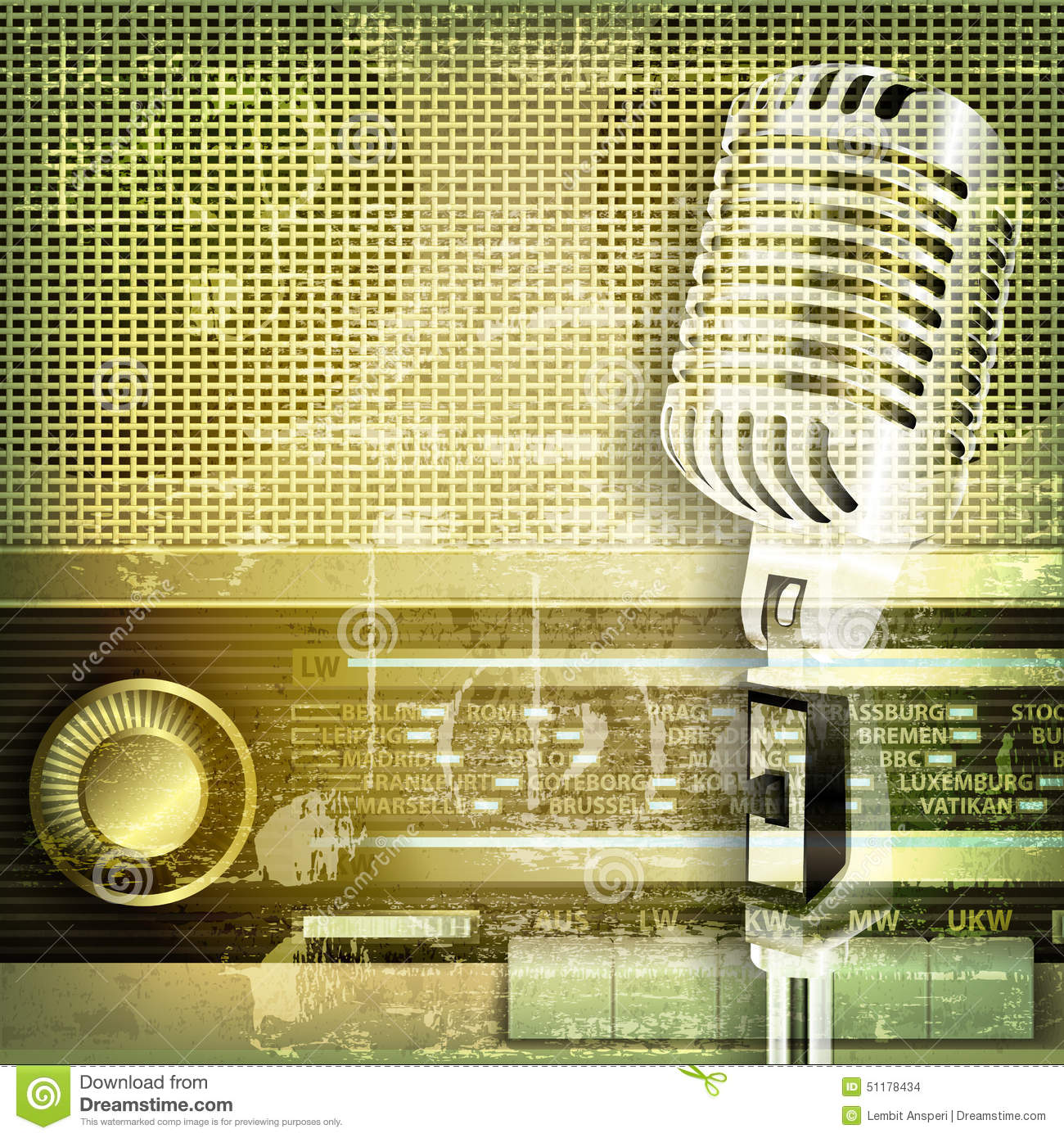 school photo backdrop ideas - Abstract Sound Grunge Background With Microphone And Retro
