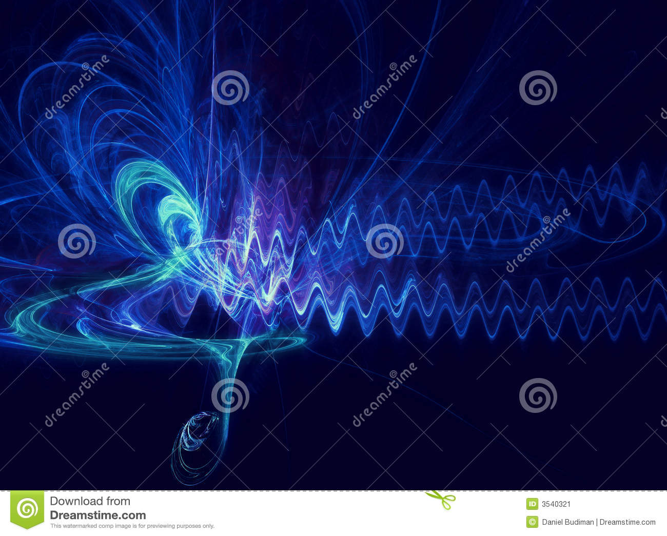 Abstract soundwave