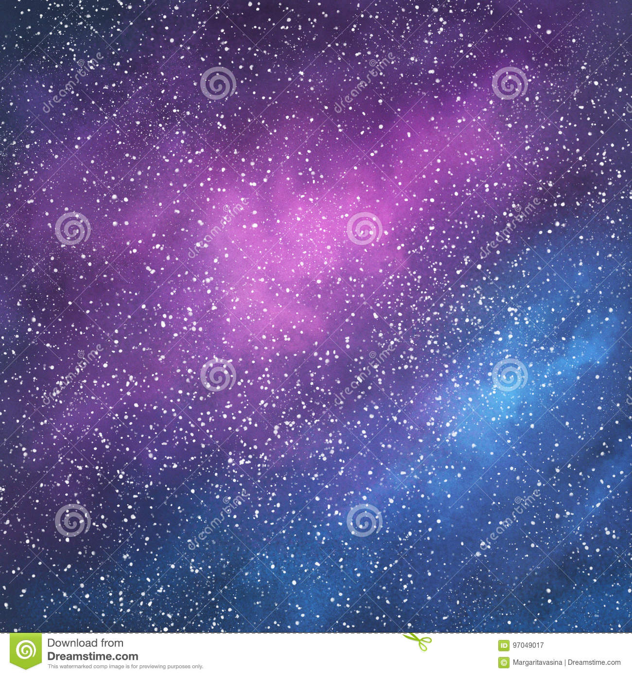 Abstract Space Galaxy Background Stock Illustration