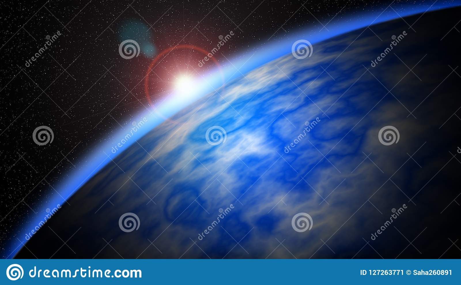 Abstract Planet Wallpaper Colorful Space Background And Moon Star In The