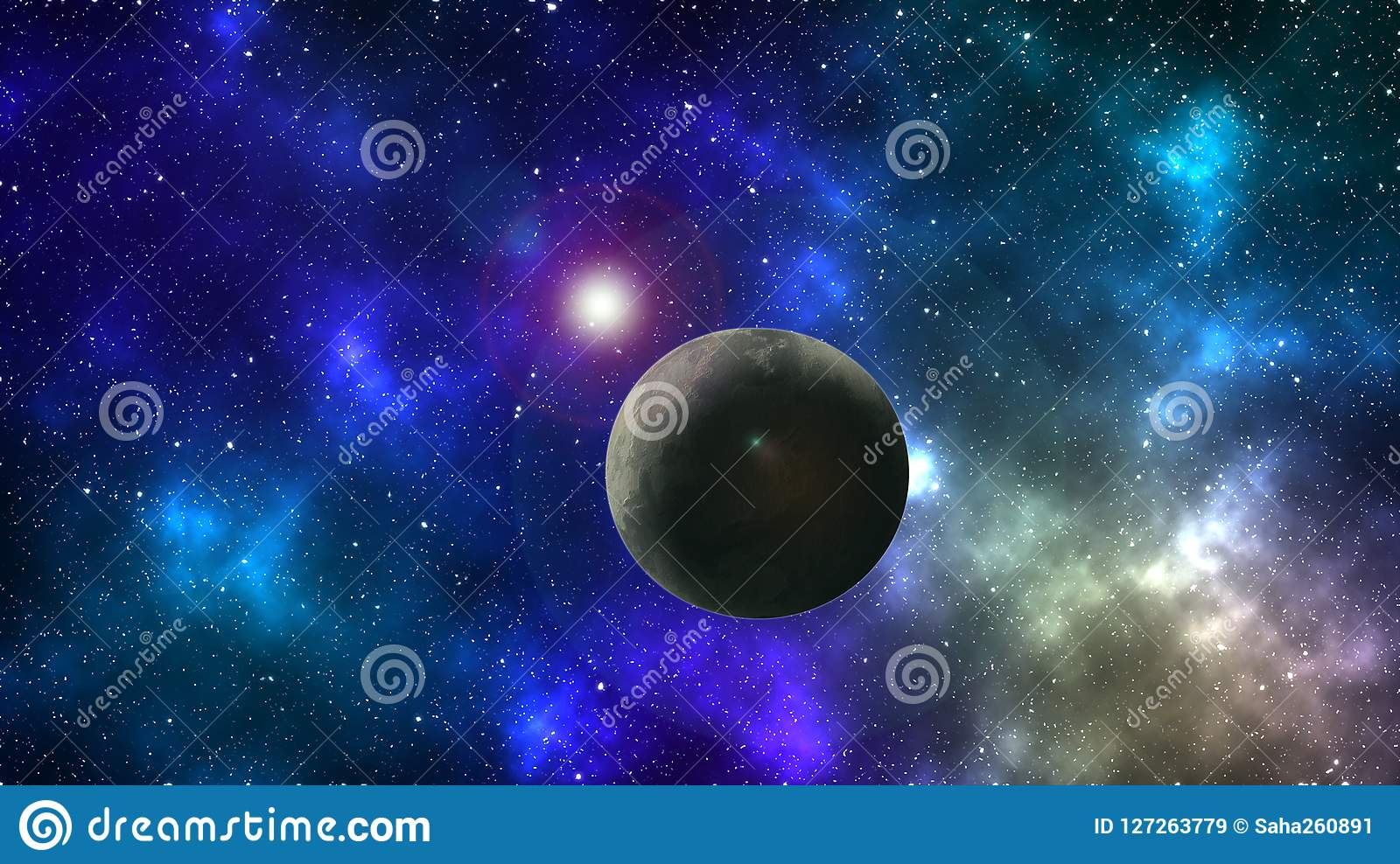 Abstract Space Wallpaper Colorful Space Background Planet