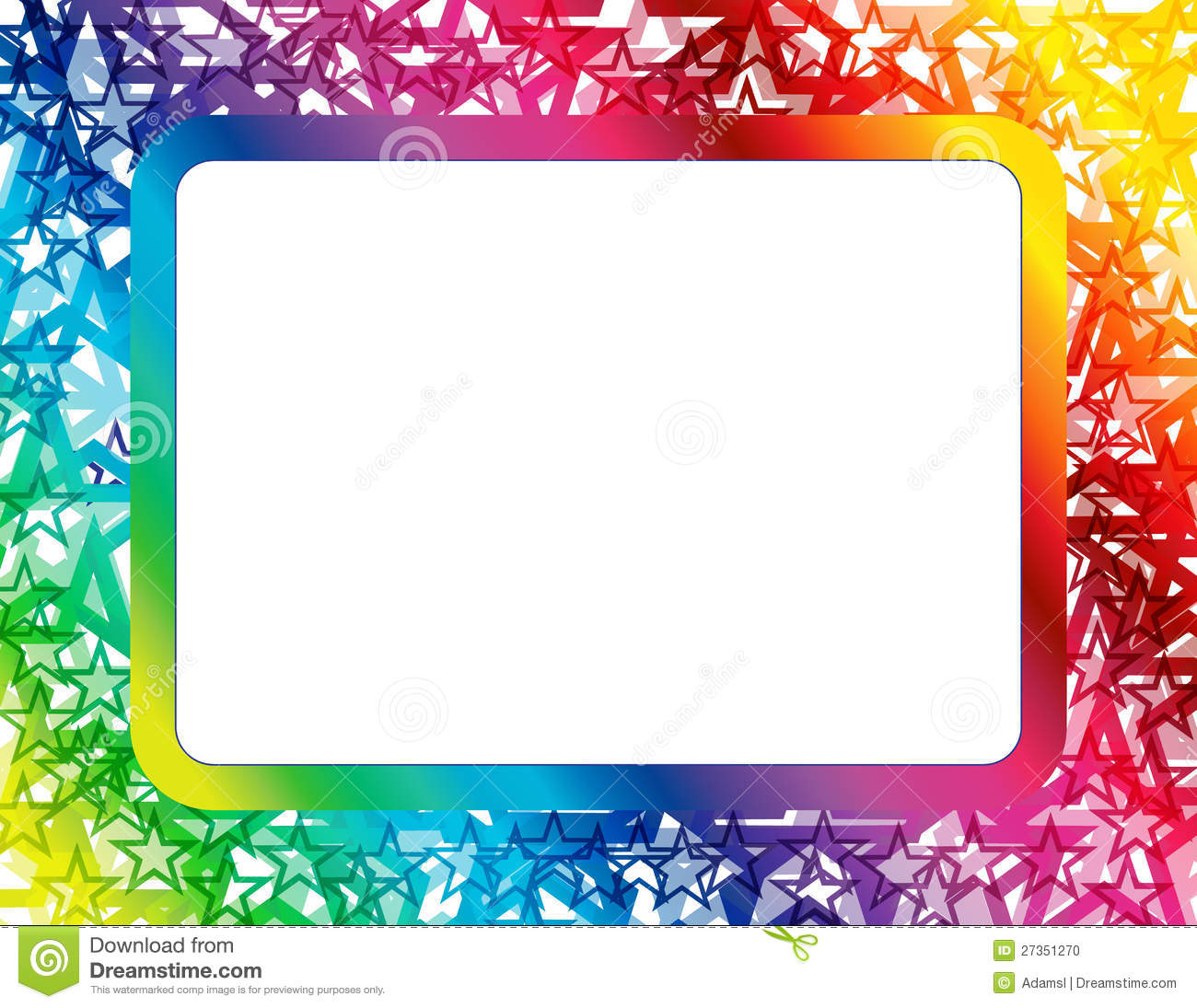 Abstract Spectrum Star Frame Stock Vector Illustration