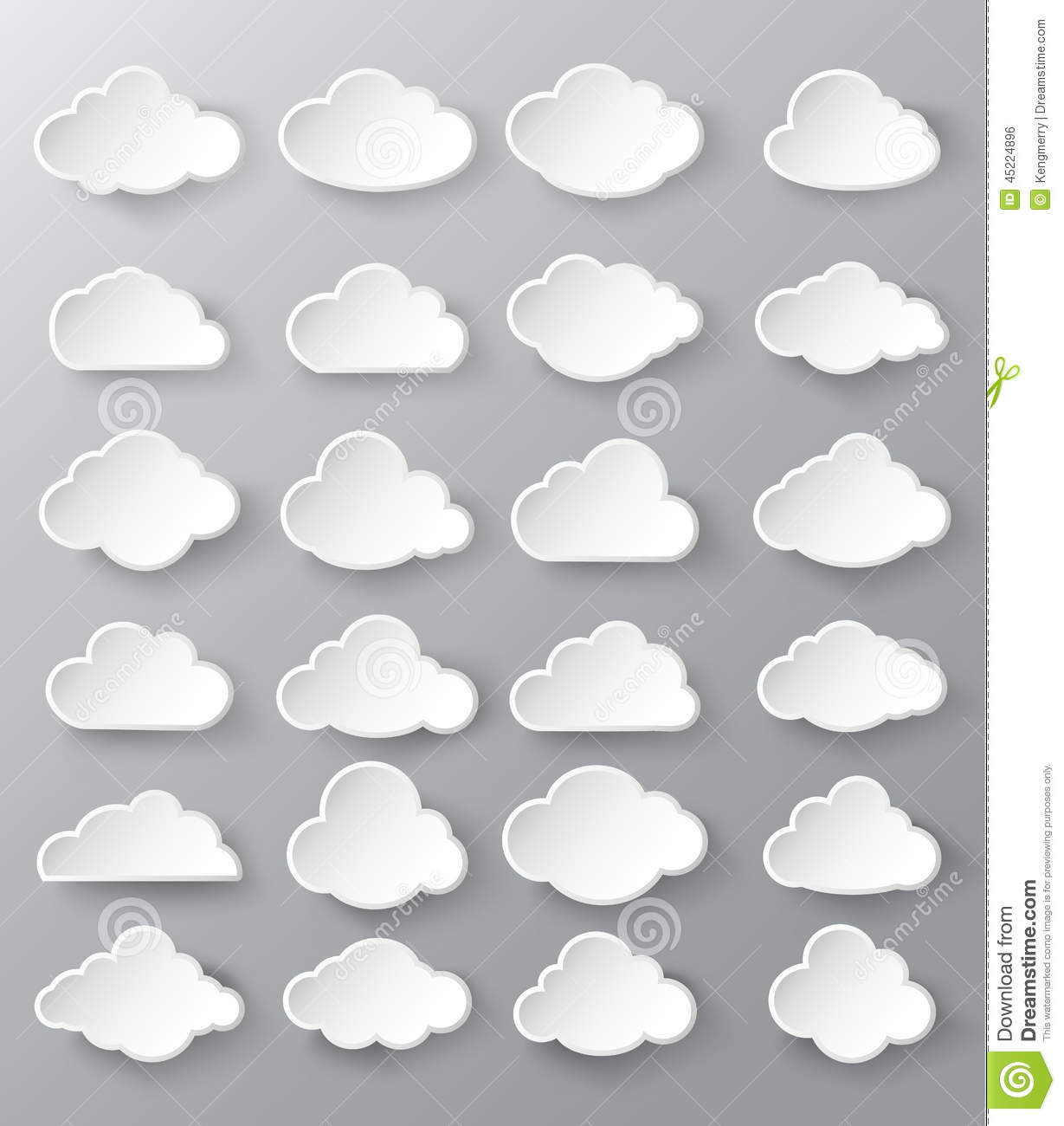 abstract speech bubbles in the shape of clouds stock. Black Bedroom Furniture Sets. Home Design Ideas