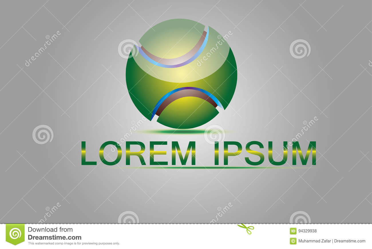 Abstract sphere logo vector stock vector illustration for Global design company