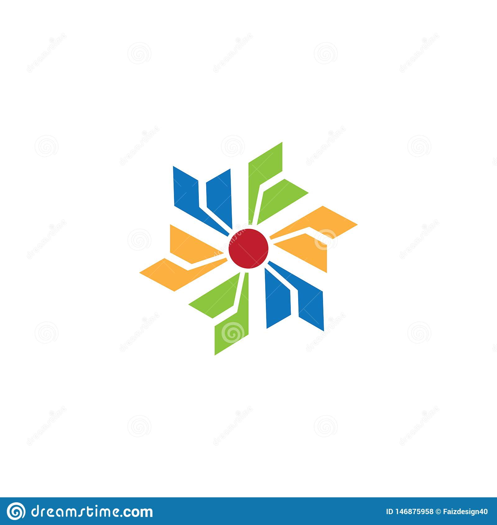 Abstract spin business logo Vector