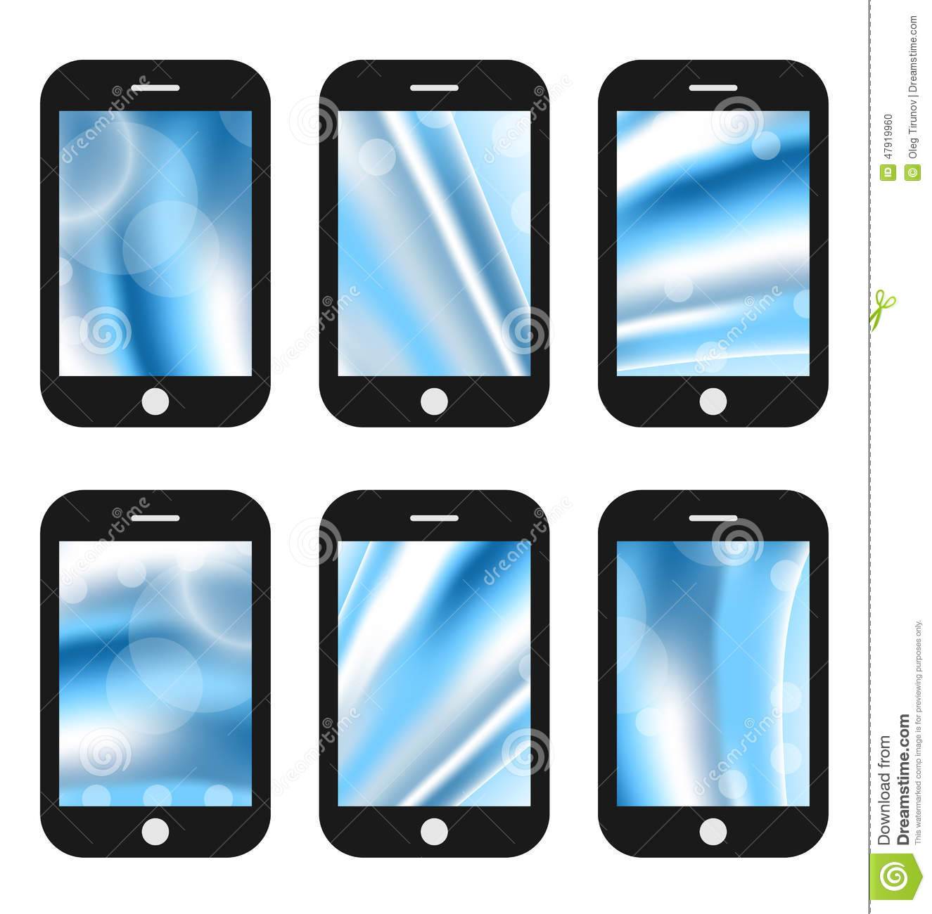 Abstract Splash Screens For Mobile Phones App With