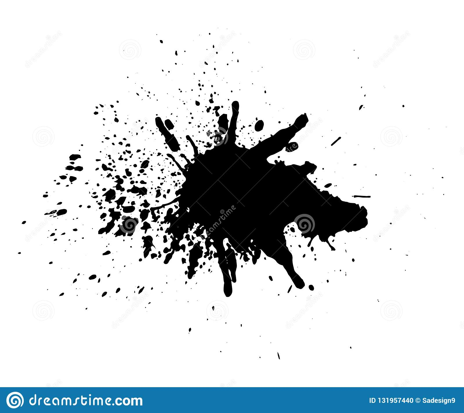 a401e47b7e8ed Abstract splatter black color background. Paint dripping vector  illustration.