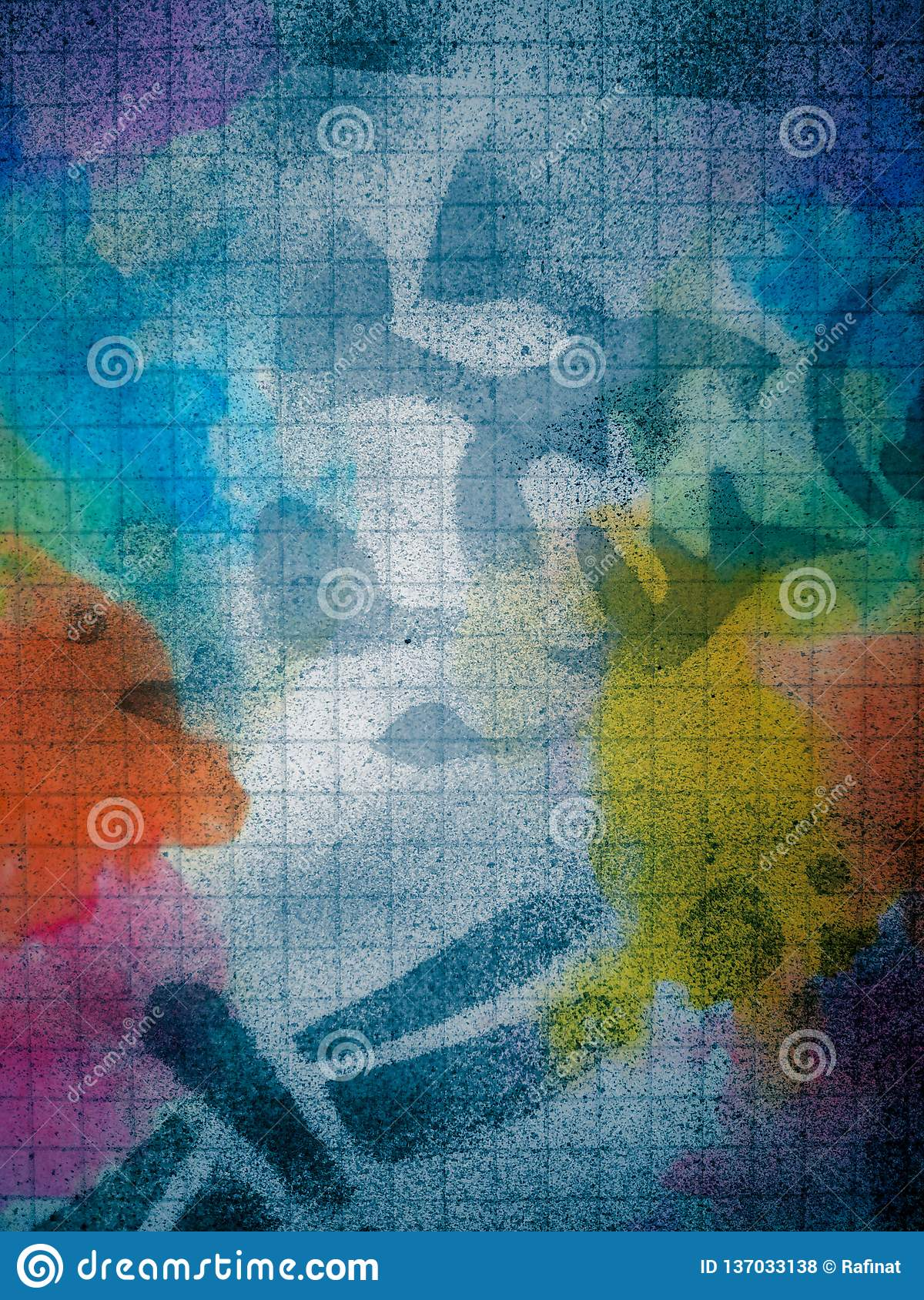 Abstract Spray Multicolor Painting Stock Photo - Image of ...