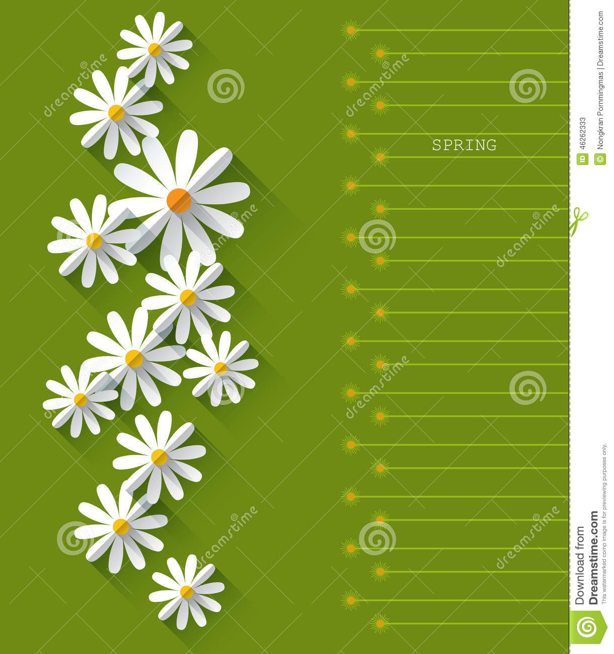 Abstract Spring Background With Paper Flowers Stock Vector