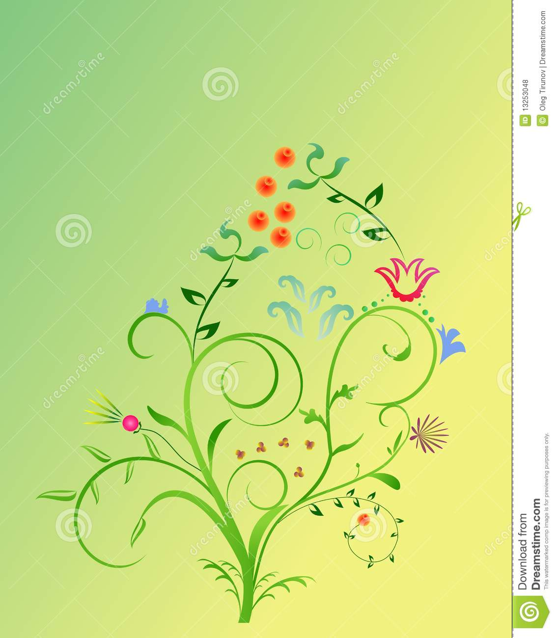 Abstract Spring Floral Background For Design Stock Vector