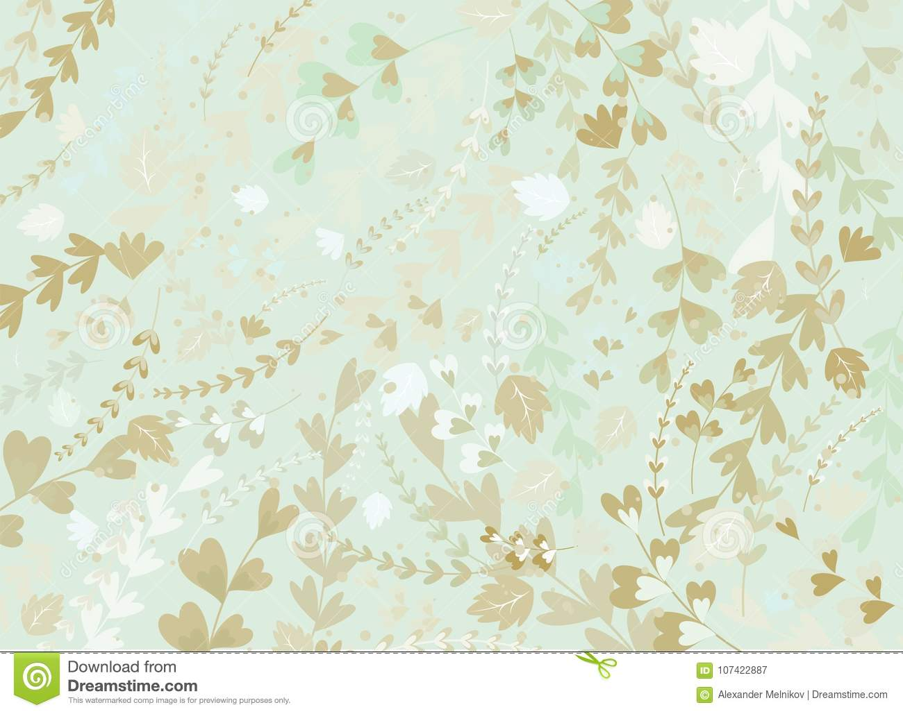 Abstract Spring Floral Background Stock Vector