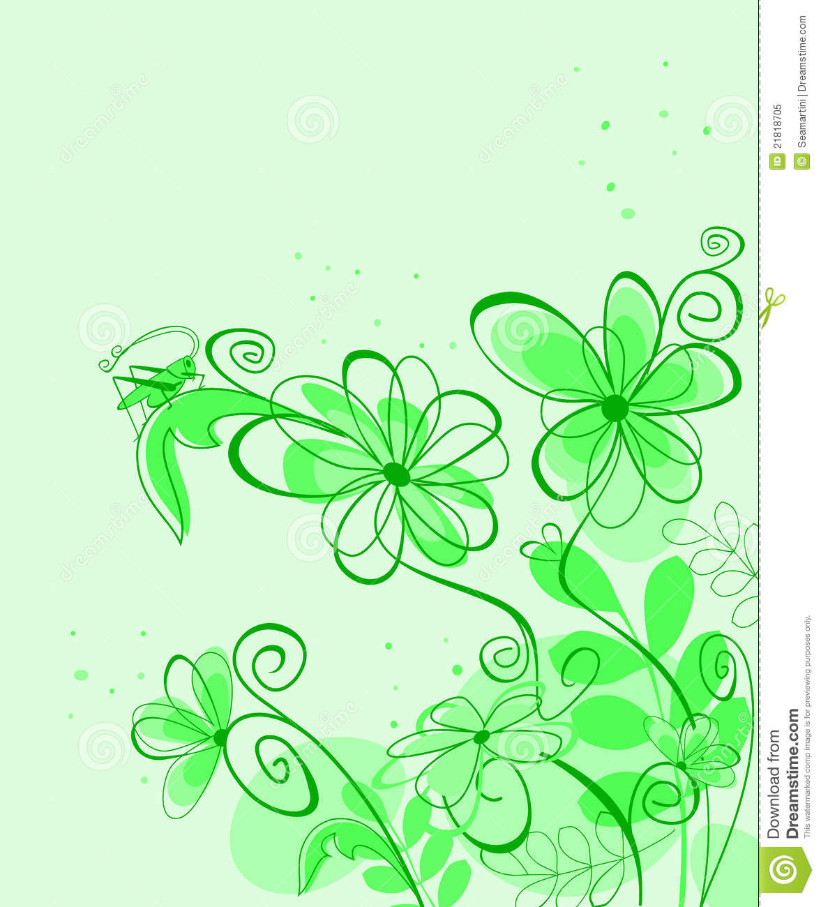 Abstract Spring Flower Background Stock Vector Illustration Of
