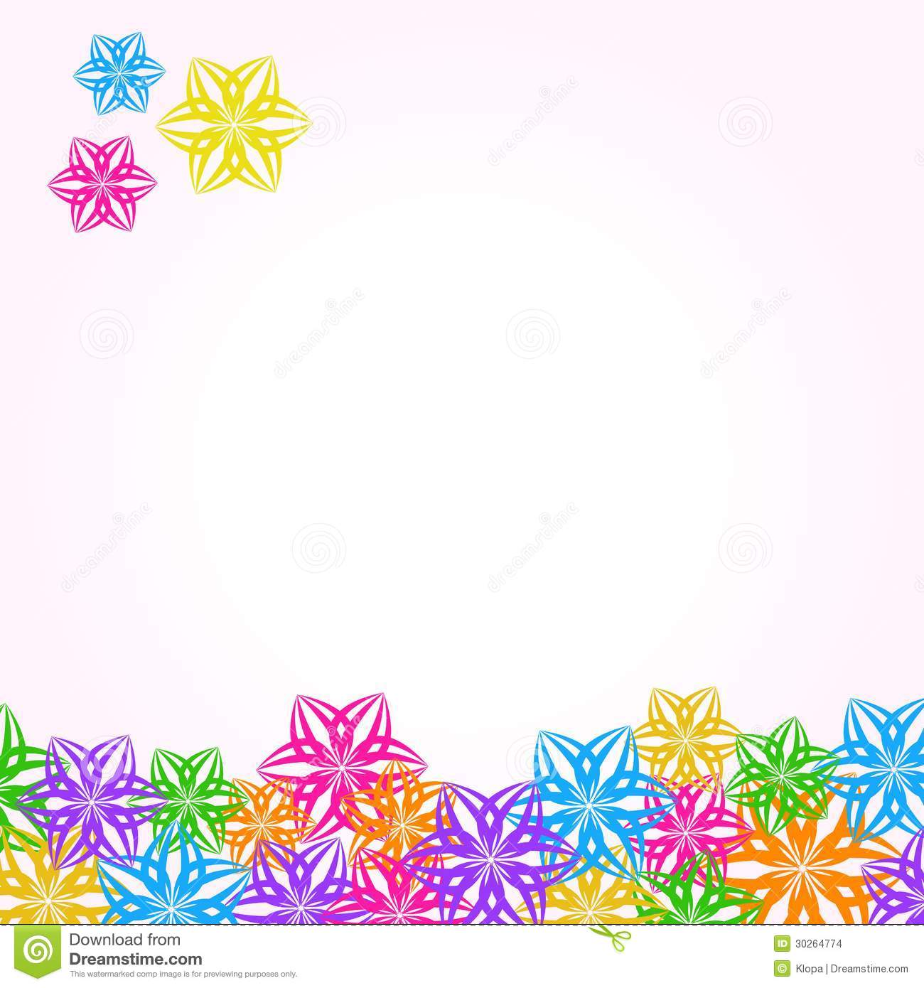 Multi colored cardstock paper - Multicolored Paper Flower Invitation Card Stock Images