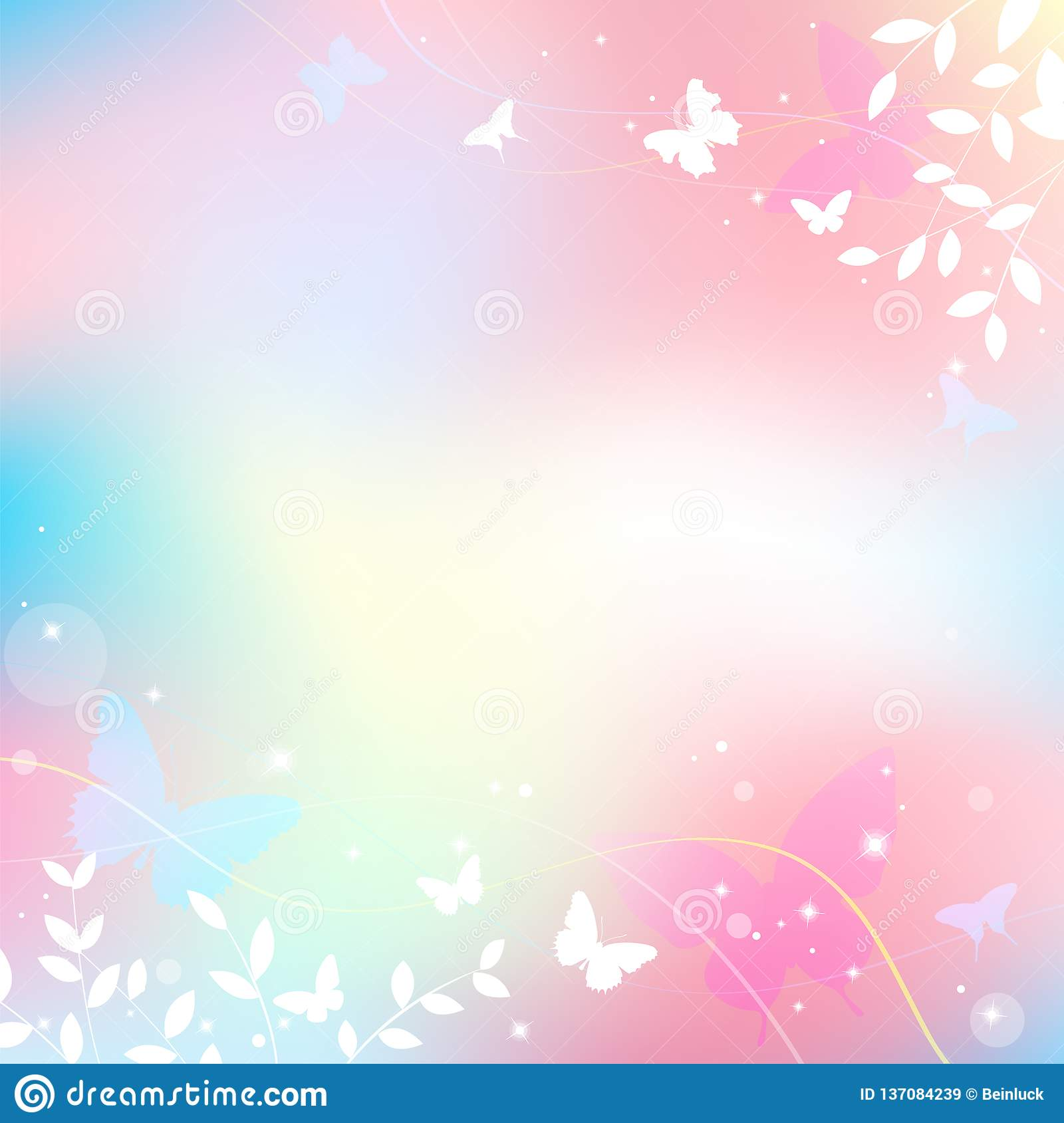 Abstract Spring Summer Background In Light Pink Pastel Color