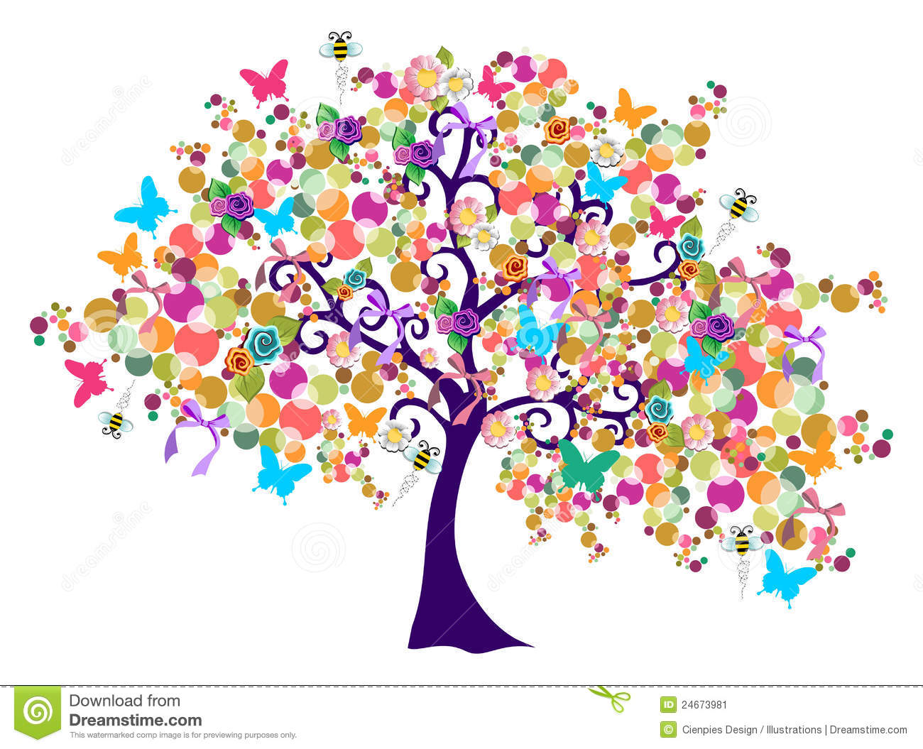 Abstract Spring Time Tree Stock Image Image 24673981