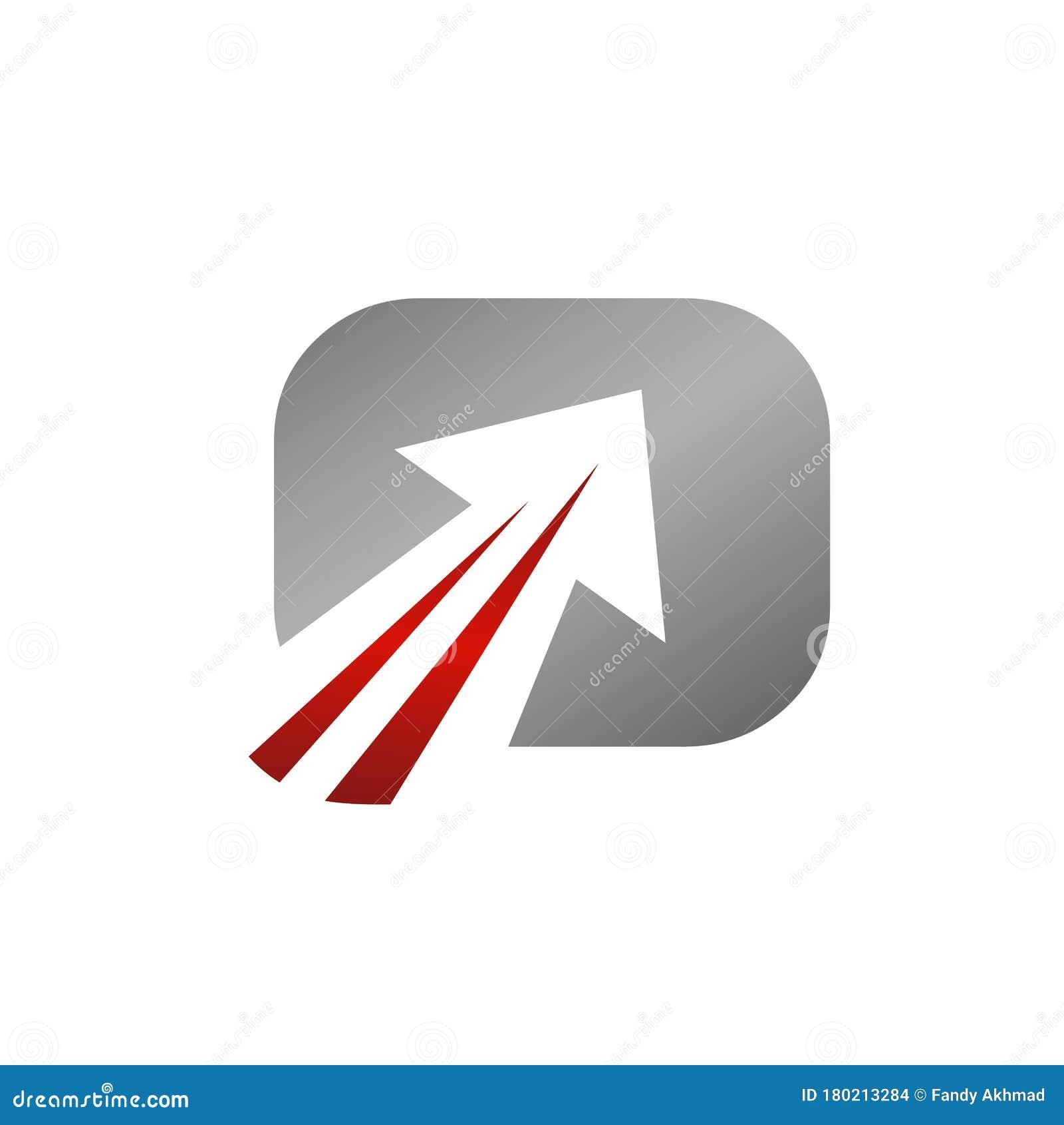 Abstract Square Arrow Logo Vector Icon Symbol Illustration